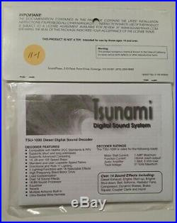 TSUNAMI SOUNDTRAXX 827116 DECODER for GE GEVO-12, Model TSU-1000 FREE SHIP 11-1