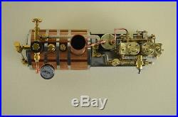 Two-cylinder steam engine Live Steam with Steam Boiler for Boat Model