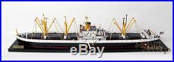 US Navy Liberty Cargo Ship WW2 Waterline Model ready for Display NEW