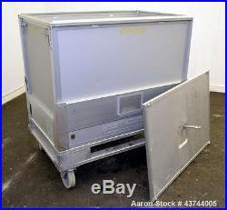 Used- Stedim Palletank For Shipping, Model PLT 500 ALU, Aluminum Construction. D