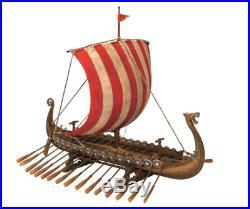 Viking Ship Model Decoration Computer Desk Decor for Men Longship Table Replika
