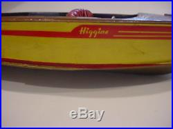 Vintage HIGGINS 16.5 wooden MODEL SPEED BOAT for restore or parts, incomplete