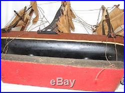 Vintage Model Of A Clipper Sailing Ship For Restoration