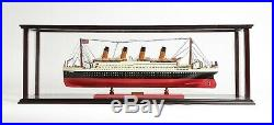 Wood & Plexiglass DISPLAY CASE 38.5 for Collectible Cruise Ship Boat Models