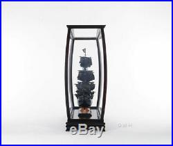 Wood & Plexiglass DISPLAY CASE CABINET For Collectable Ship Yacht Boat Models