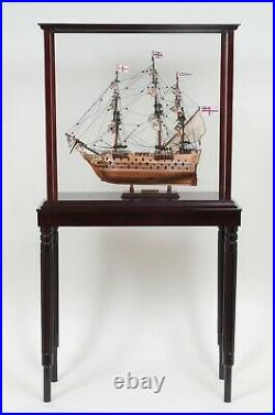 Wood & Plexiglass DISPLAY CASE STAND Cabinet 26.5 for Ship Yacht Boats Models