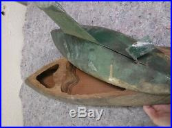 Wooden Pond Boat Yacht Vintage Great for Restoration Project