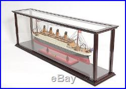 Wooden Ship Model Display Case For Cruise liners 38 Long