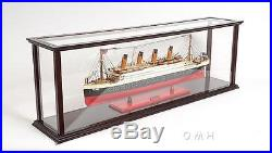 Wooden Ship Model Display Case For Cruise liners Size L 38 Inches