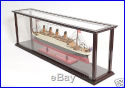 Wooden Table Top Ship Model Display Case for 32 Ocean Liner & Cruise Ships New