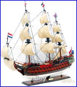 Zeven Provincien Wooden Ship Model Ready for Display